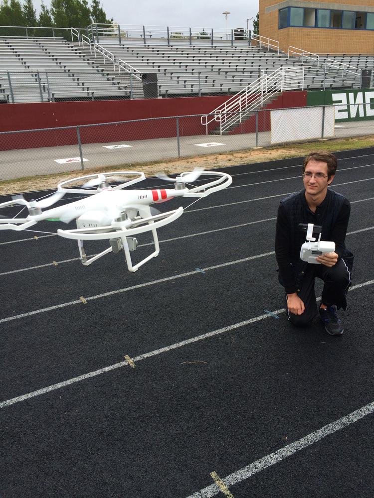 drone football video